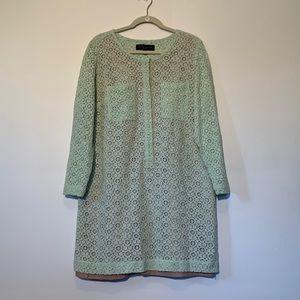 Victoria Beckham Mint Green Lace Dress 1X